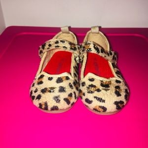 Toddler girls Cheetah Mary Janes